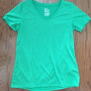Never worn Nike green v neck workout shirt