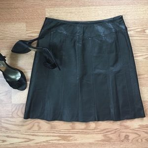 Vintage Dresses & Skirts - Vintage Leather Mini Skirt