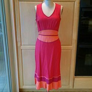 sangria Dresses & Skirts - Sangria bias linen dress