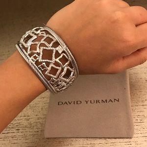 David Yurman Jewelry - David Yurman Quatrefoil Diamond Cuff Bracelet