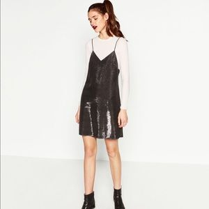 Zara Dresses & Skirts - Zara shiny slip dress.