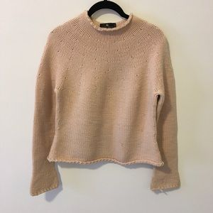 Etro Sweaters - ETRO Soft Pink Wool Blend Knit Sweater