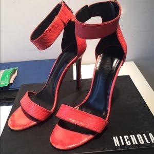 Nicholas Shoes - Nicholas Jasmina snakeskin sandal