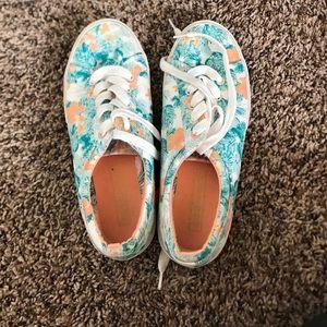 Bershka Shoes - Bershka floral lace up shoe