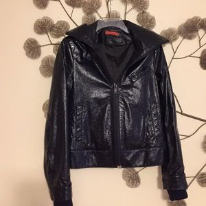Alice+Olivia Leather Jacket.