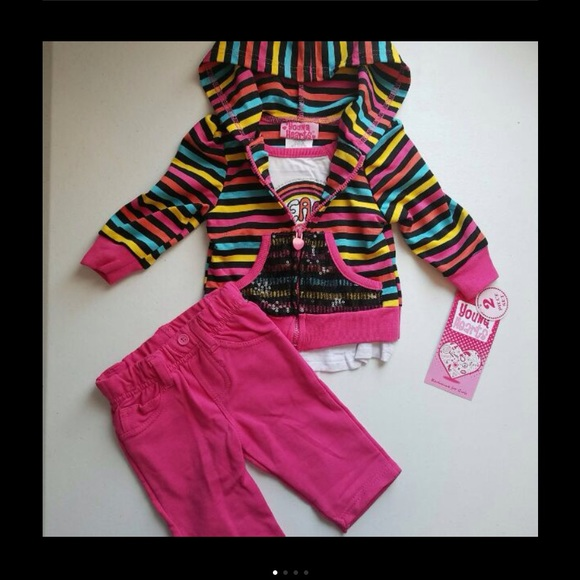 525a9fc7e13f Young Hearts Hoodie Outfit Set