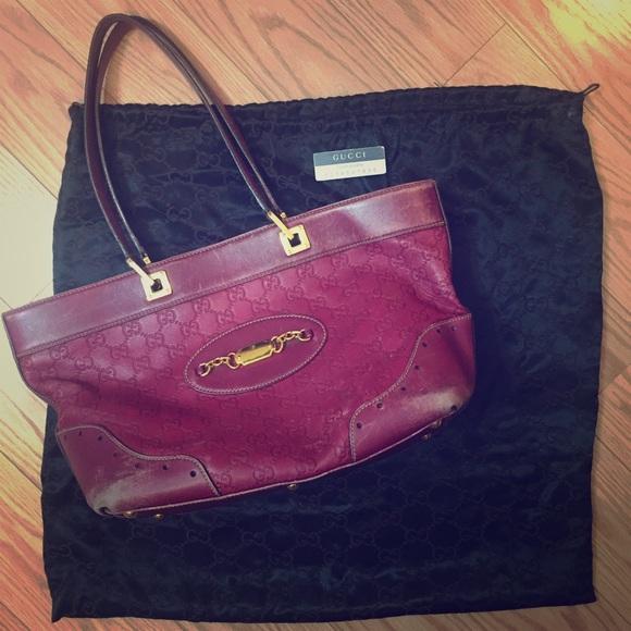 b53109275cb7 Gucci Bags | Rare Vintage Ssima Punch Tote | Poshmark