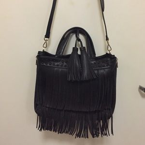 Patrizia Pepe Handbags - Patrizia Pepe vegan faux leather fringe bag.