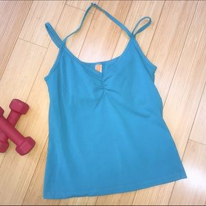 Lucy Tops - LUCY teal yoga top, S.