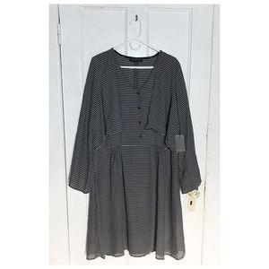 Eloquii Dresses & Skirts - Sleek Striped Capelet Shirtdress 👁