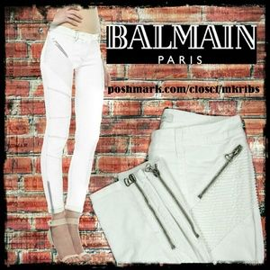 Balmain Denim - 🌻  Balmain biker moto jeans pants