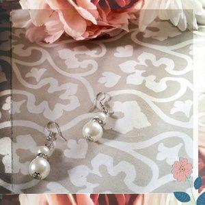 Elegant Faux Pearl Dangle Earrings