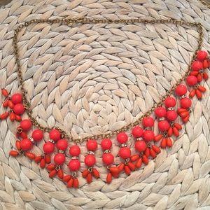 Orange Jcrew Bubble Necklace