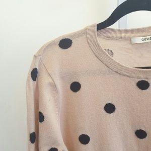Oasis Tops - Oasis | Pink Polka Dot Sweater