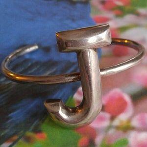Vintage Jewelry - Vintage Alwand Vahan bracelet initial J silver 925