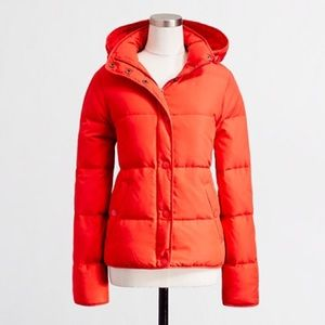J. Crew Factory Jackets & Blazers - EUC J.Crew Factory XXS Puffer Jacket Coat Orange