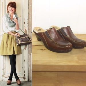 Sofft Shoes - SOFFT Brown Leather Clogs