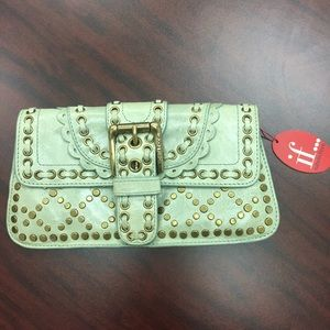 Isabella Fiore Handbags - Isabella Fiori Green Clutch