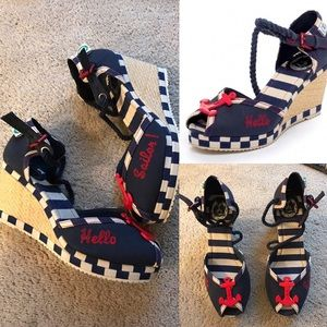Miss l fire sailor hello wedges nautical pin up 39