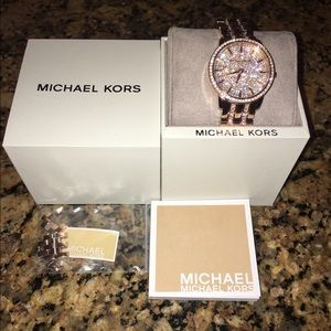 Brand new rose gold Michael Kors watch never worn
