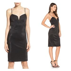 Bardot Dresses & Skirts - Bardot Alexandria V Neck Black Metallic Midi Dress