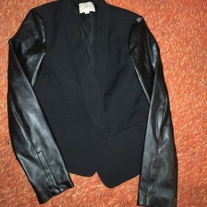 LOFT Jackets & Blazers - Blazer with leather sleeves
