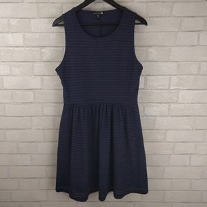 Cotton On Fit and Flare Blue Textured Dress