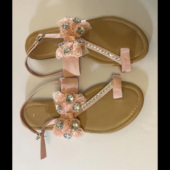 bbe1b7ba6 Madeline Stuart Shoes - Madeleine Stuart Pink Crystal Embellished Sandals