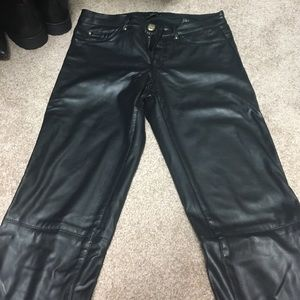 H&M vegan leather pants size 4