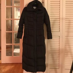 Cole Haan full length black winter coat