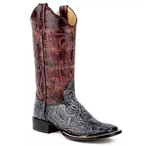 Roper Shoes - ROPER Cowboy Boots Embroidered Cowgirl Riding Shoe