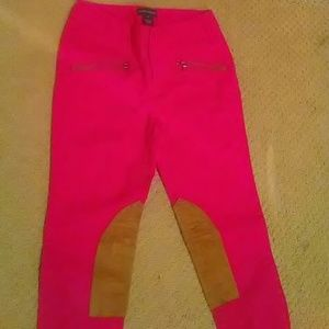 Other - Ralph Lauren hot pink riding pants with patches