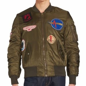 American Stitch Other - American Stitch Patched Bomber Jacket Large
