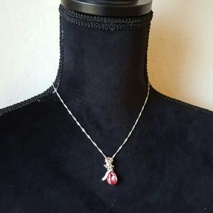 Life by Design  Jewelry - Angel Teardrop Rose Necklace