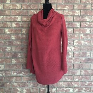 Sweaters - Cowl Neck Rust Sweater