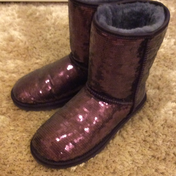 32 off ugg shoes purple sparkle uggs from laurens