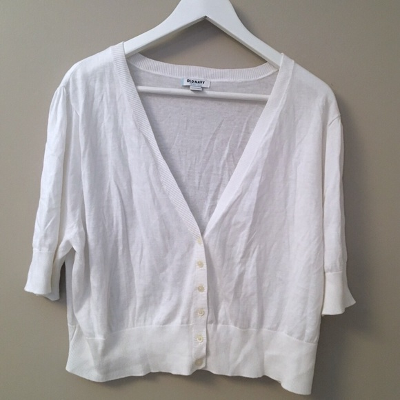 71% off Old Navy Sweaters - New Old Navy Short Sleeve White ...