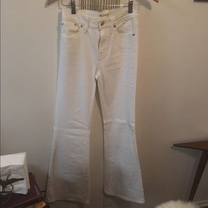 Madewell white flares, size 24