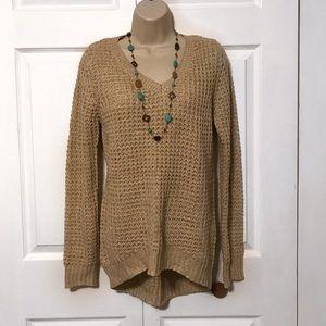 New Knit Tan Sweater