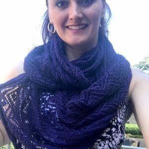 Pretty dark plum infinity scarf