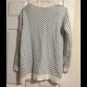Merona Sweaters - White and black open cardigan