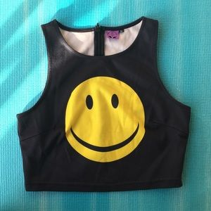 Everland Clothing Smiley Crop Top