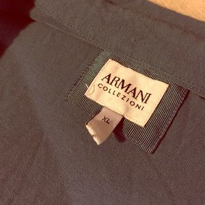 Armani Men's Long Sleeve Tee