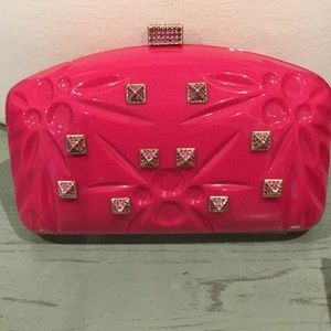Valentino Handbags - VALENTINO HOT PInK CLUTCH