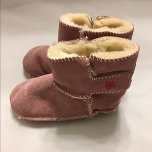 Animal Other - Pink Genuine Shearling Booties Shoes