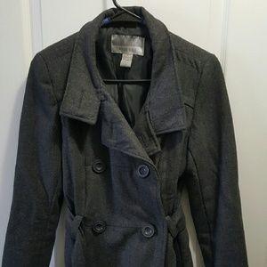 Jackets & Blazers - Gray wool peacoat