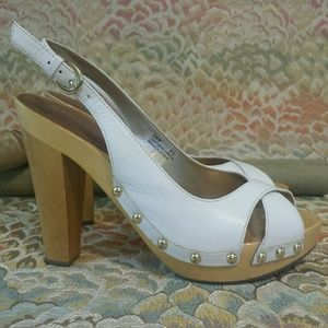 "Guess Shoes - Guess ""Sam"" Wood Slingback Platform"