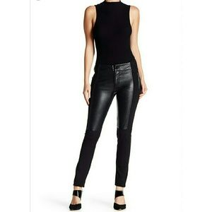 Gracia Pants - Front Leather Leggings
