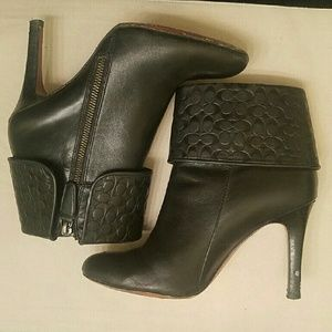 Coach Shoes - Ccoach Black Booties Size 8