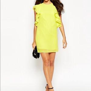 ASOS Dresses & Skirts - Asos ruffle shoulder mini dress
